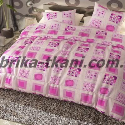 Полуторное постельное белье БЯЗЬ 100% хлопок Тиротекс 0153
