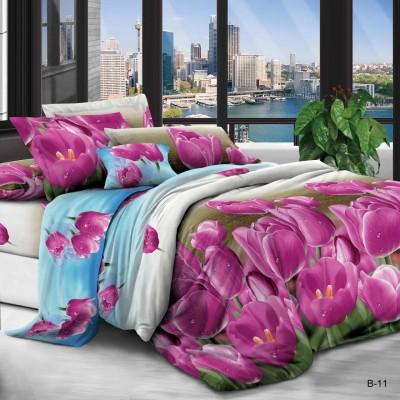 Евро постельное белье полиСАТИН 3D (поликоттон) 8511