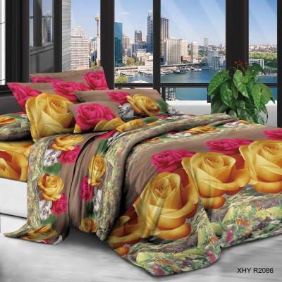 Евро постельное белье полиСАТИН 3D (поликоттон) 852086