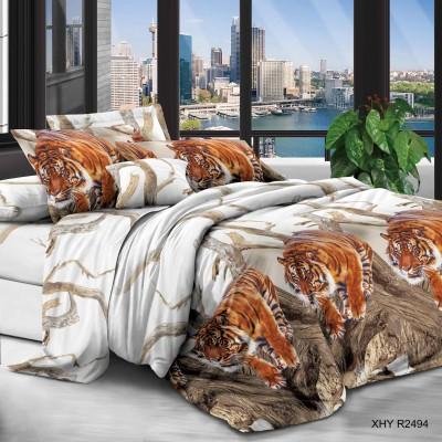 Евро постельное белье полиСАТИН 3D (поликоттон) 852494