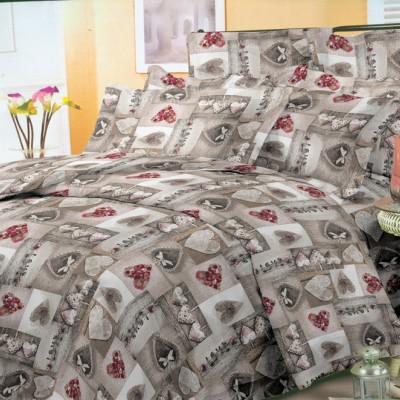 Евро постельное белье полиСАТИН 3D (поликоттон) 85264