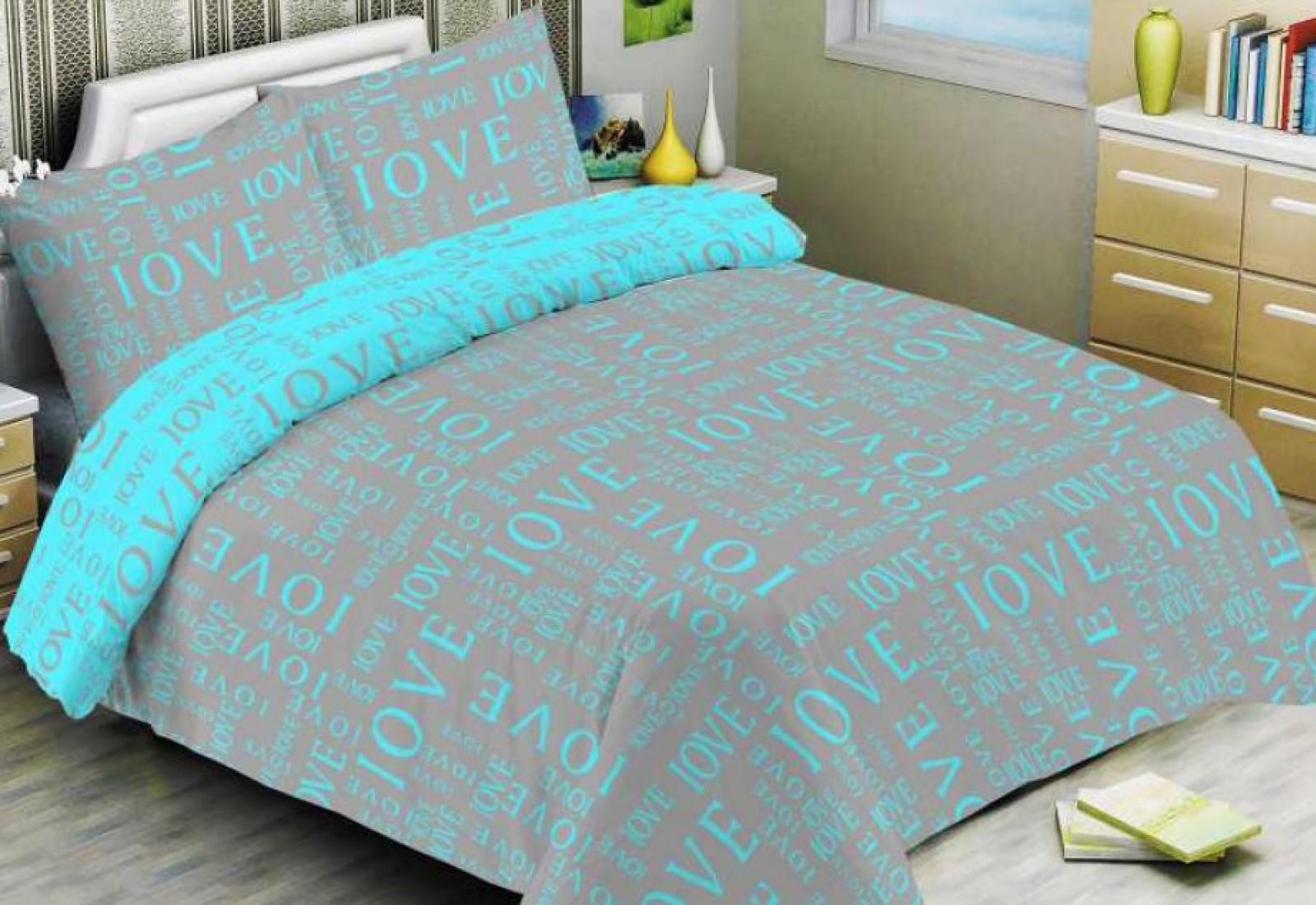 Двуспальное постельное белье БЯЗЬ 100% хлопок 154228