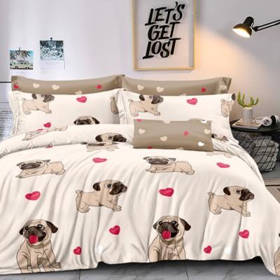 Двуспальное постельное белье БЯЗЬ 100% хлопок 154336