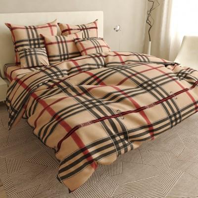 Двуспальное постельное белье БЯЗЬ 100% хлопок 154371