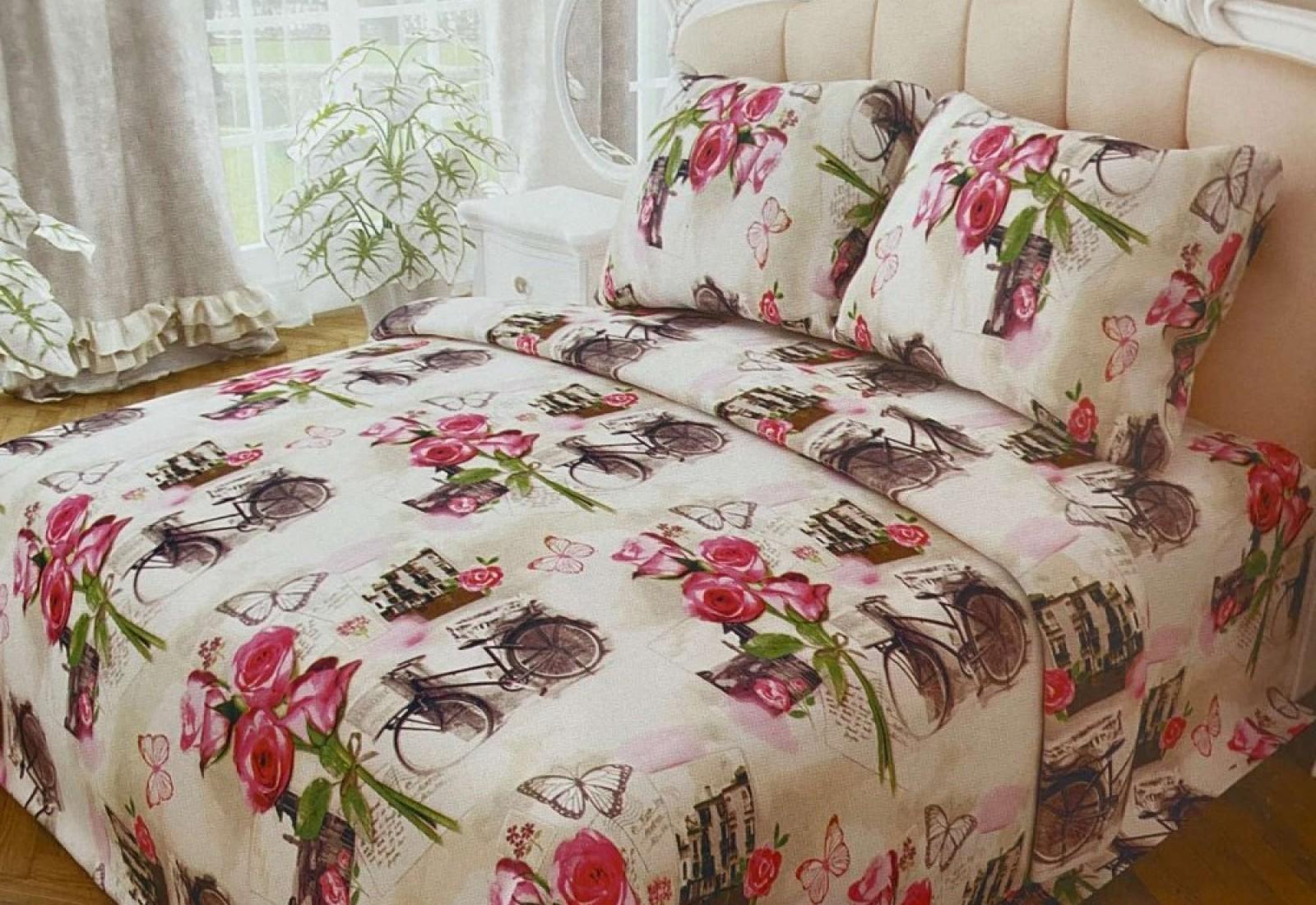 Полуторное  постельное белье БЯЗЬ 100% хлопок 157237