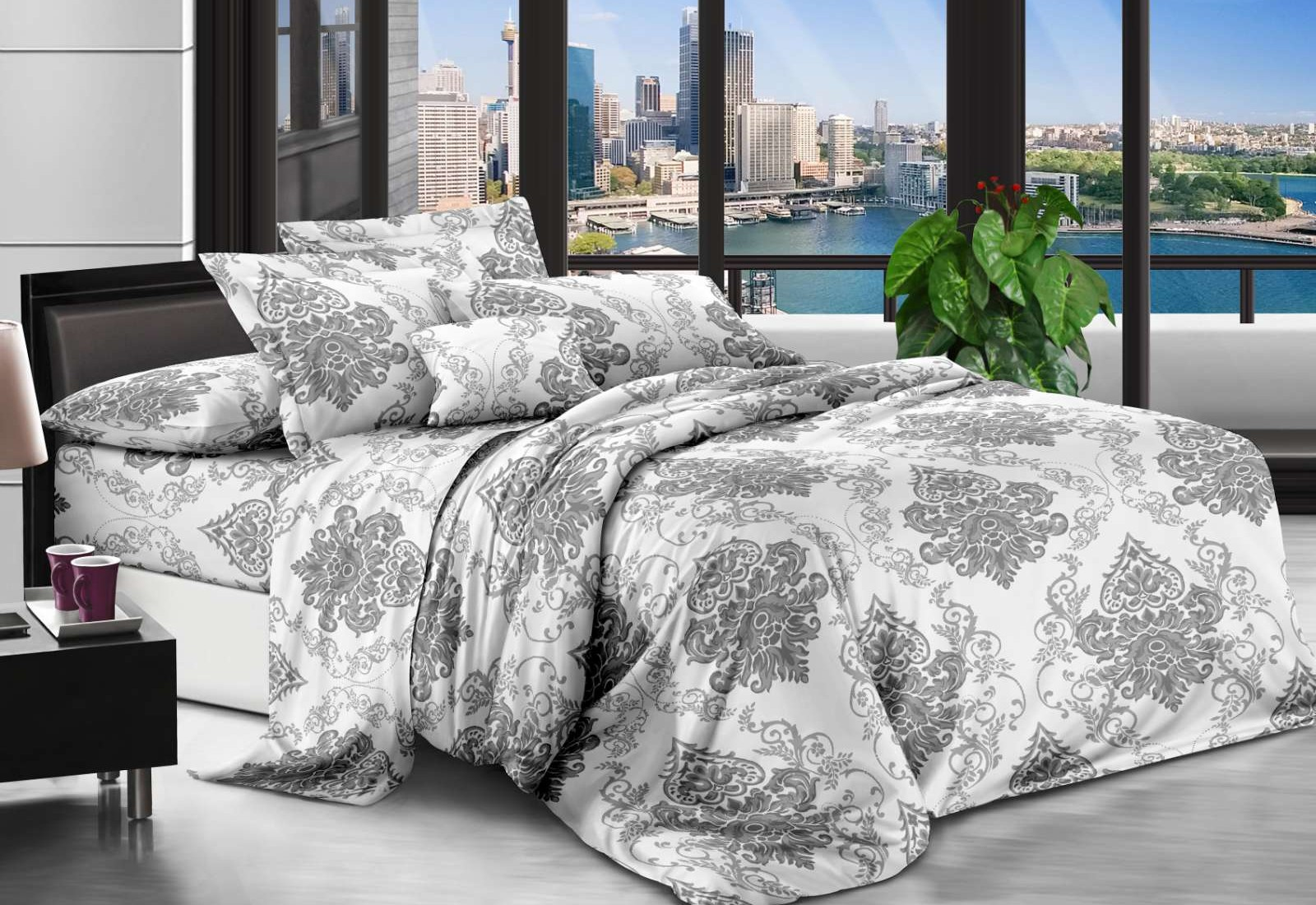 Двуспальное постельное белье РАНФОРС (бязь) 100% хлопок 181500