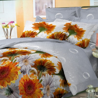 Двуспальное постельное белье полиСАТИН 3D (поликоттон) 85045