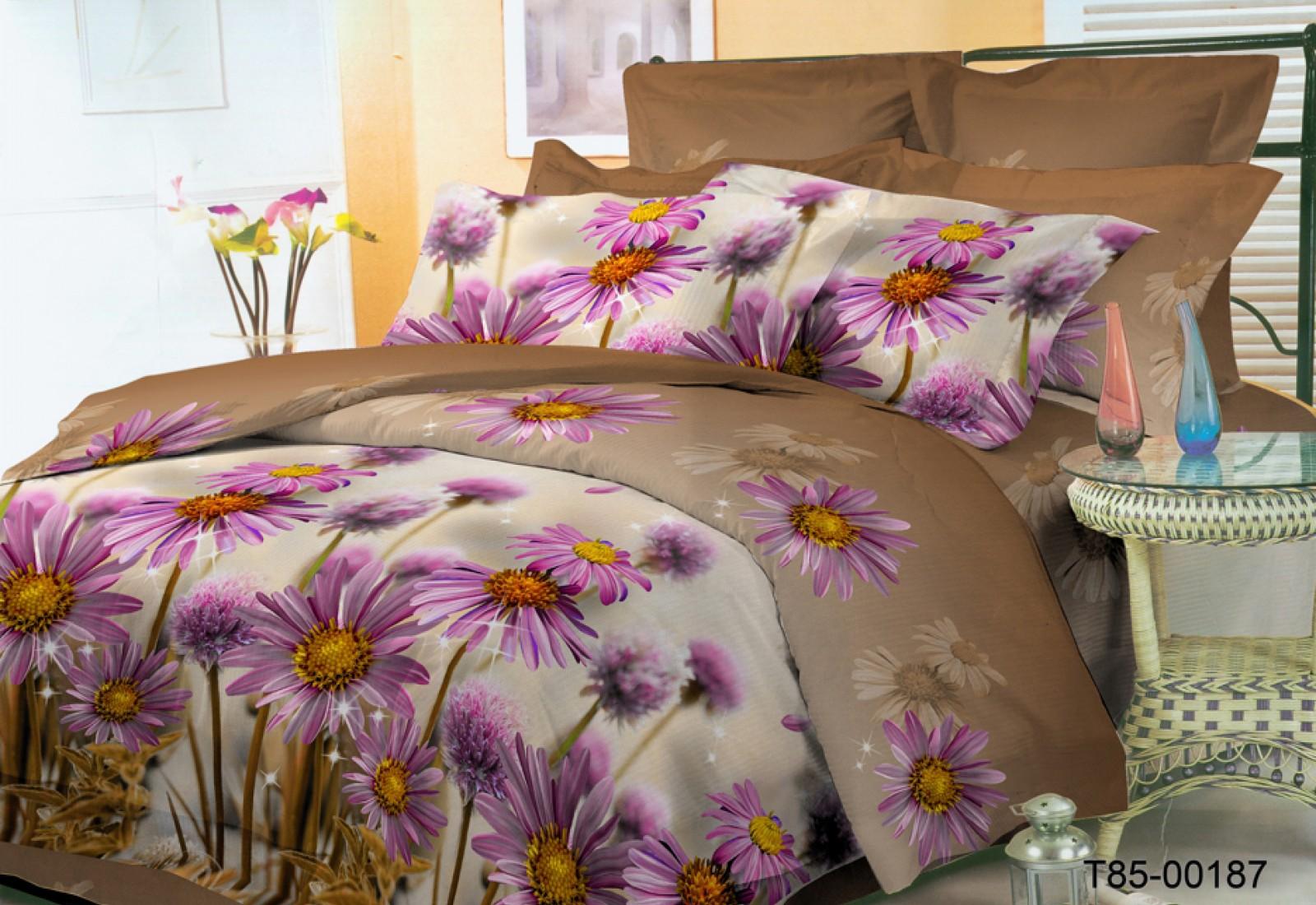 Двуспальное постельное белье полиСАТИН 3D (поликоттон) 85187
