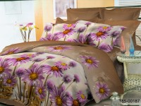 Евро постельное белье полиСАТИН 3D (поликоттон) 85187