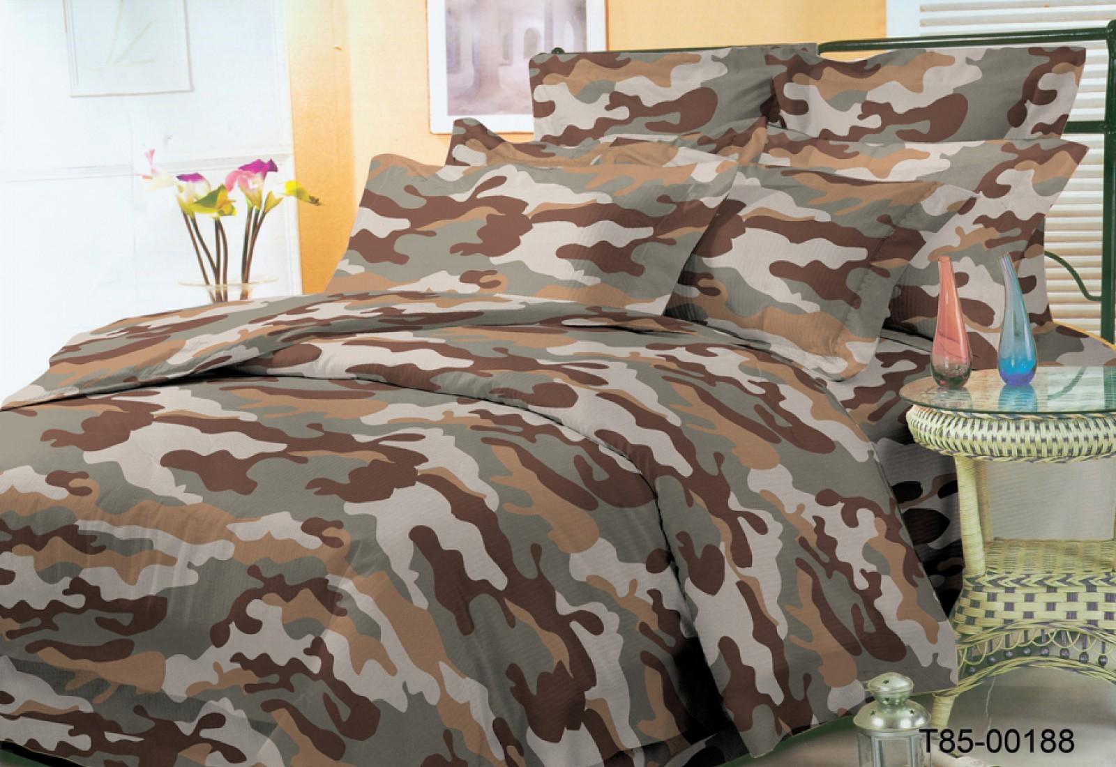 Евро постельное белье полиСАТИН 3D (поликоттон) 85188