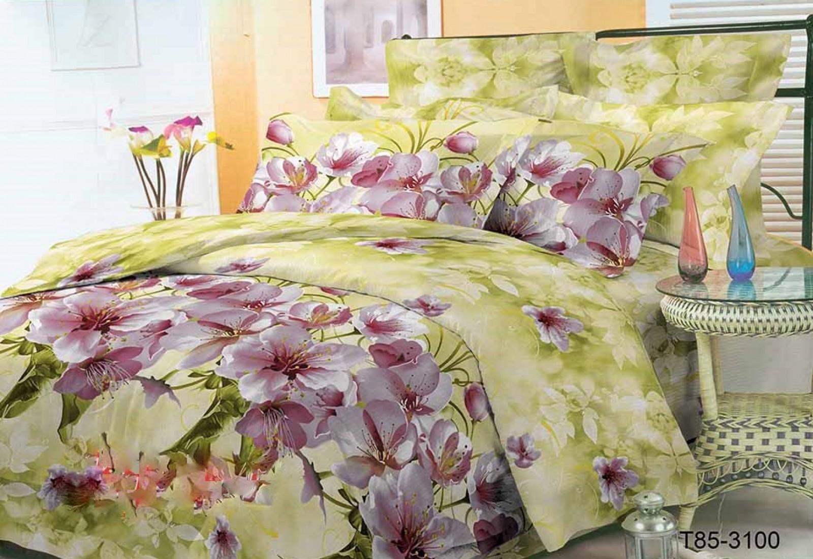 Двуспальное постельное белье полиСАТИН 3D (поликоттон) 853100