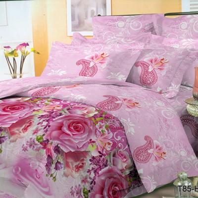Двуспальное постельное белье полиСАТИН 3D (поликоттон) 853347