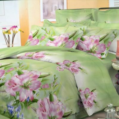 Полуторное постельное белье полиСАТИН 3D (поликоттон) 854309