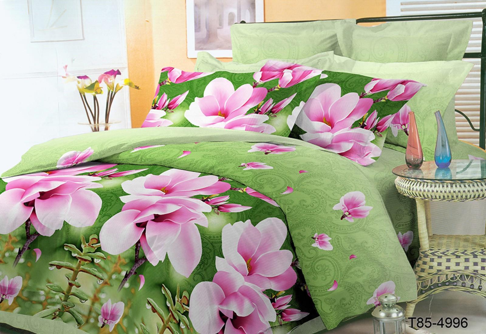 Двуспальное постельное белье полиСАТИН 3D (поликоттон) 854996