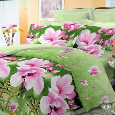 Полуторное постельное белье полиСАТИН 3D (поликоттон) 854996