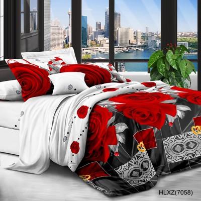 Полуторное постельное белье полиСАТИН 3D (поликоттон) 857058
