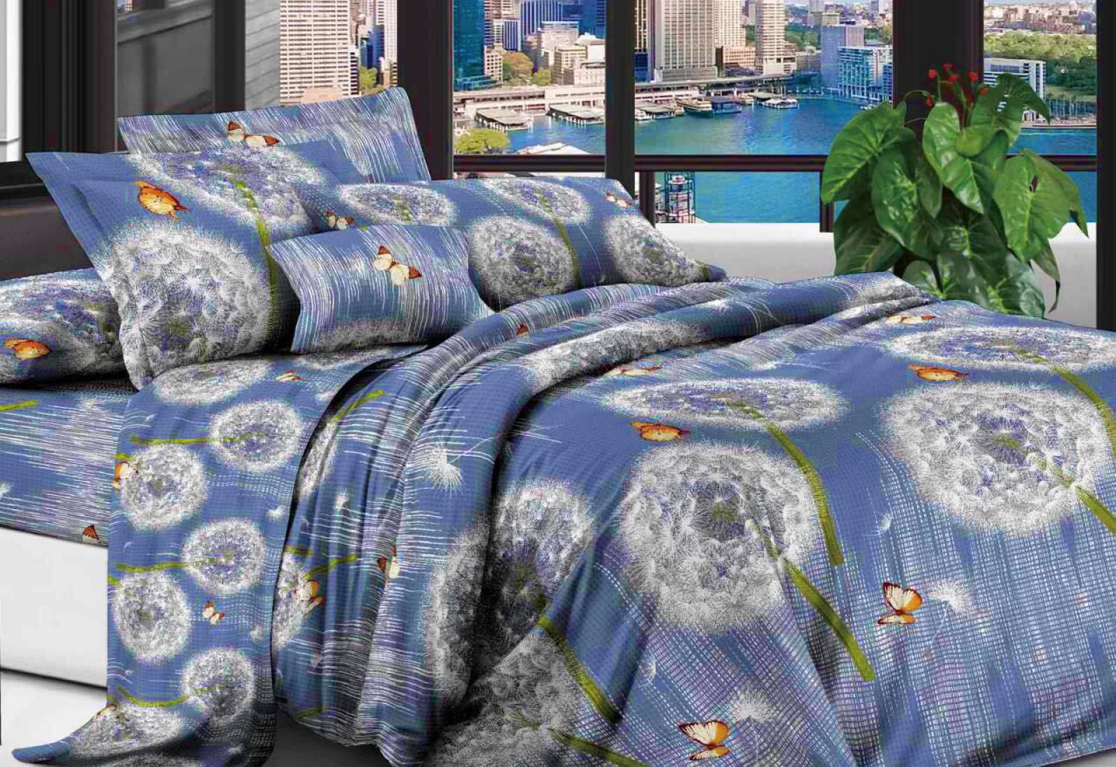 Полуторное постельное белье полиСАТИН 3D (поликоттон) 85706