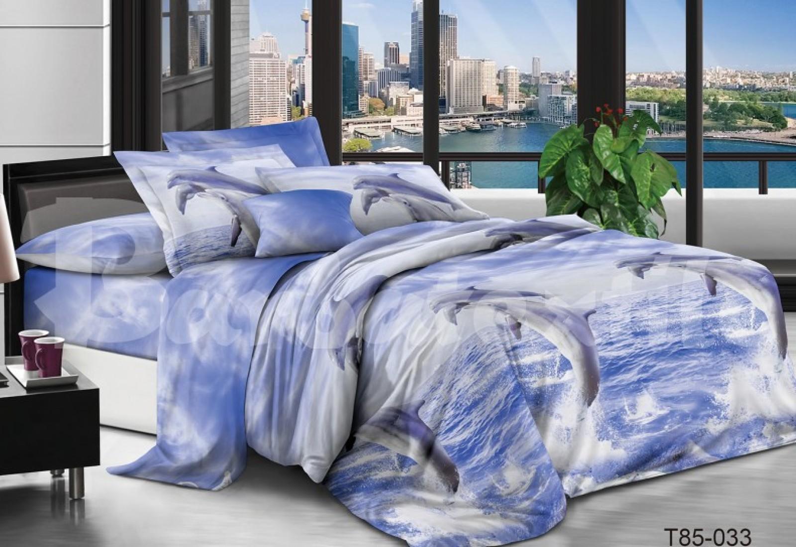 Полуторное постельное белье полиСАТИН 3D (поликоттон) 85033