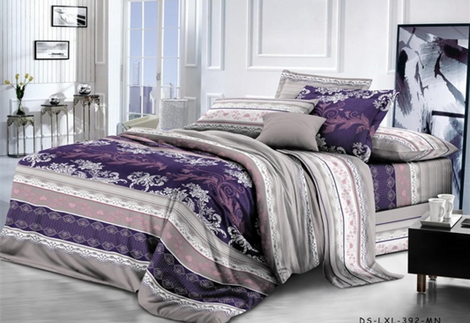 Двуспальное постельное белье полиСАТИН 3D (поликоттон) 851254