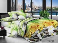 Двуспальное постельное белье полиСАТИН 3D (поликоттон) 85128
