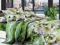 Двуспальное постельное белье полиСАТИН 3D (поликоттон)