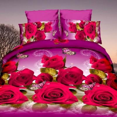 Евро постельное белье полиСАТИН 3D (поликоттон) 851832