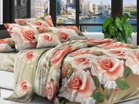 Полуторное постельное белье полиСАТИН 3D (поликоттон) 851972
