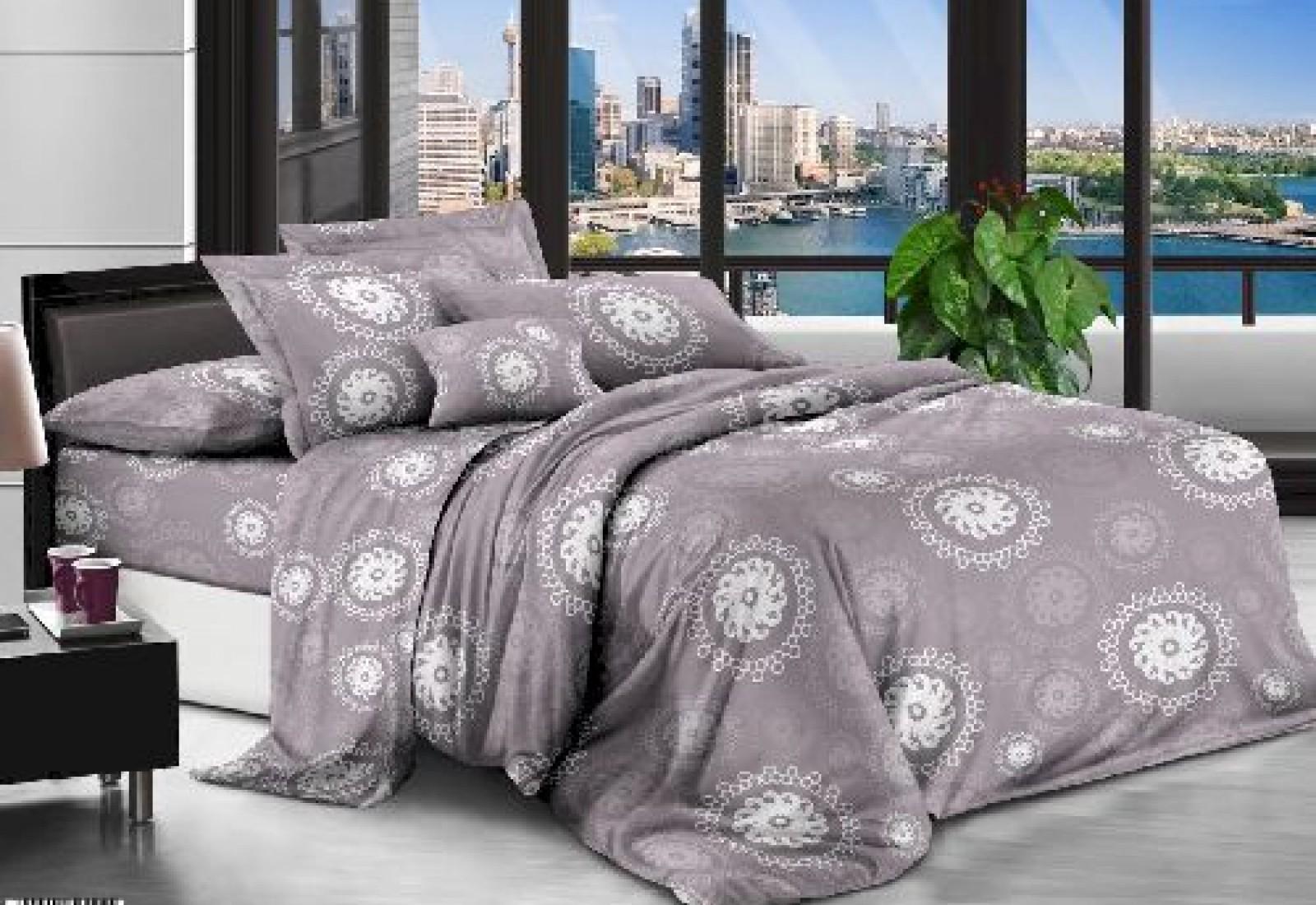 Полуторное постельное белье полиСАТИН 3D (поликоттон) 85200