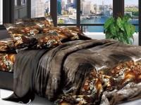 Полуторное постельное белье полиСАТИН 3D (поликоттон) 852117