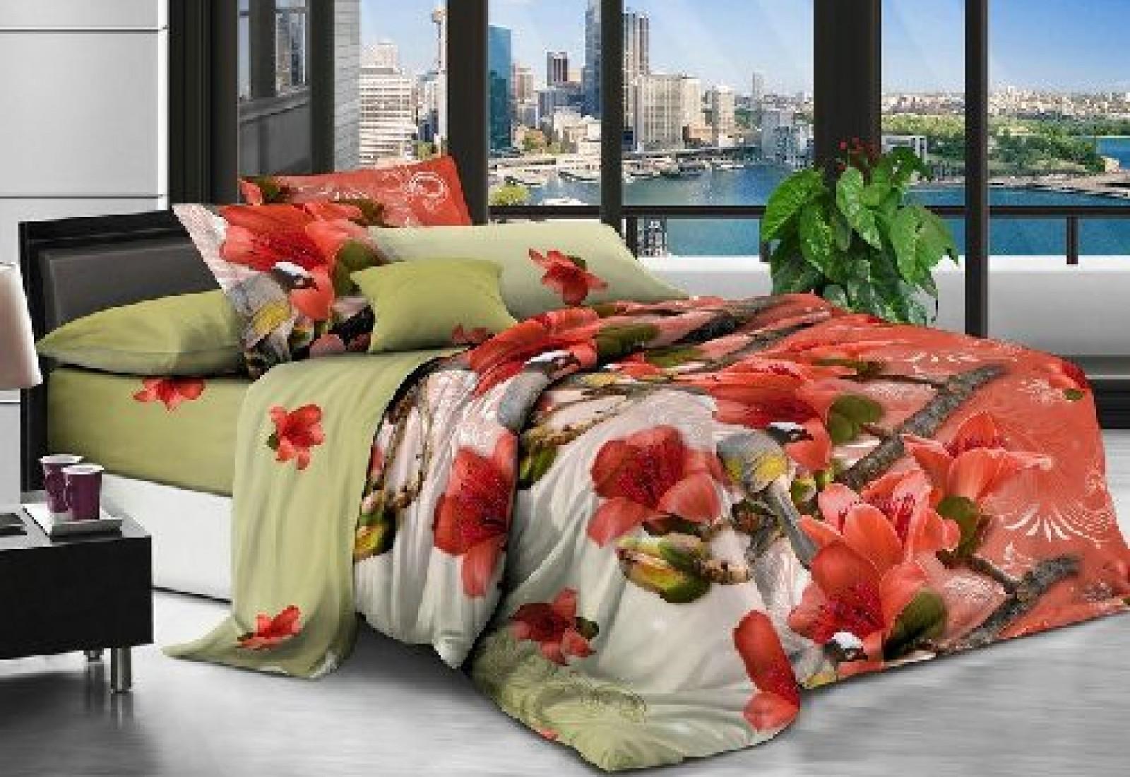 Семейное постельное белье полиСАТИН 3D (поликоттон) 852167