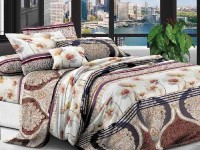 Двуспальное постельное белье полиСАТИН 3D (поликоттон)  85233