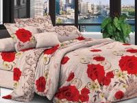 Полуторное постельное белье полиСАТИН 3D (поликоттон)  852834