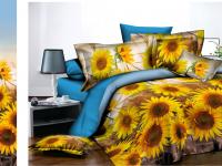 Двуспальное постельное белье полиСАТИН 3D (поликоттон) 852842