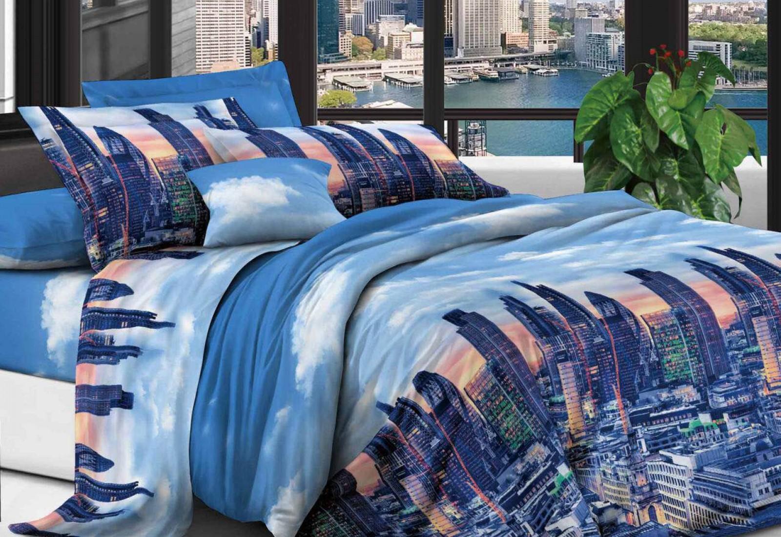 Семейное постельное белье полиСАТИН 3D (поликоттон) 852907