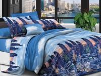 Полуторное постельное белье полиСАТИН 3D (поликоттон)  852907