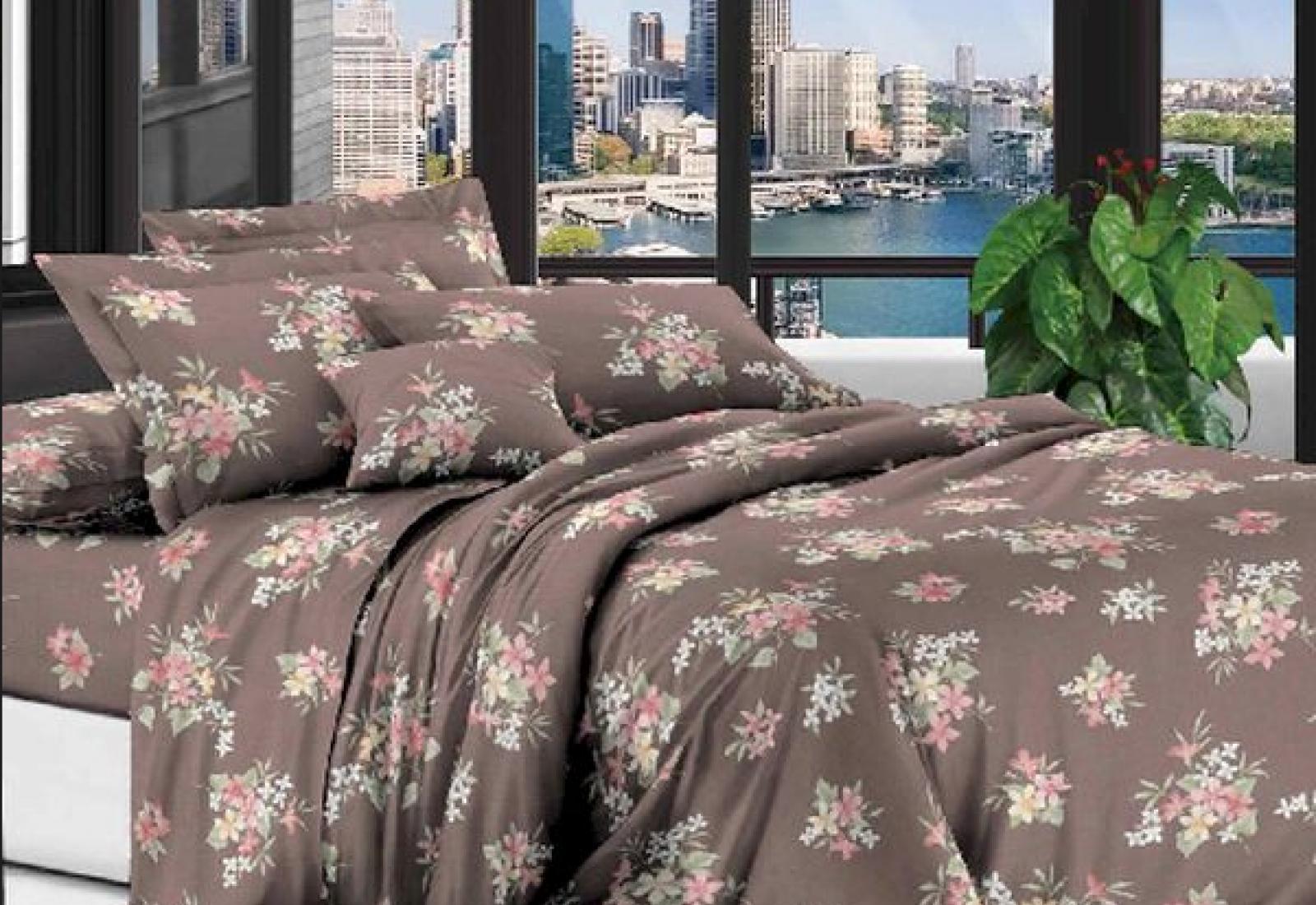Двуспальное постельное белье полиСАТИН 3D (поликоттон) 853037