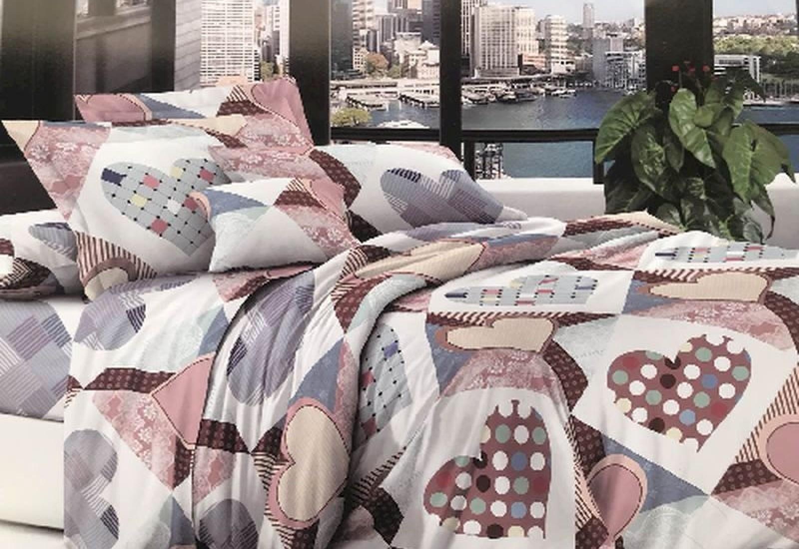 Двуспальное постельное белье полиСАТИН 3D (поликоттон) 853073