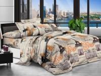Полуторное постельное белье полиСАТИН 3D (поликоттон) 853248