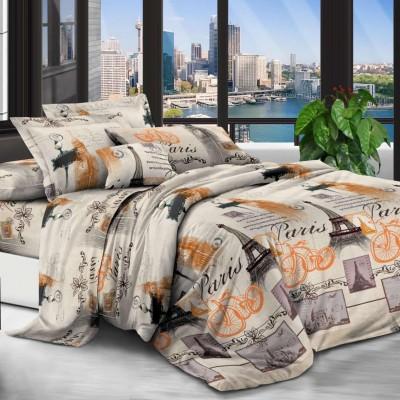 Евро постельное белье полиСАТИН 3D (поликоттон) 853248