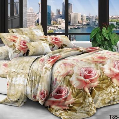 Евро постельное белье полиСАТИН 3D (поликоттон) 853563