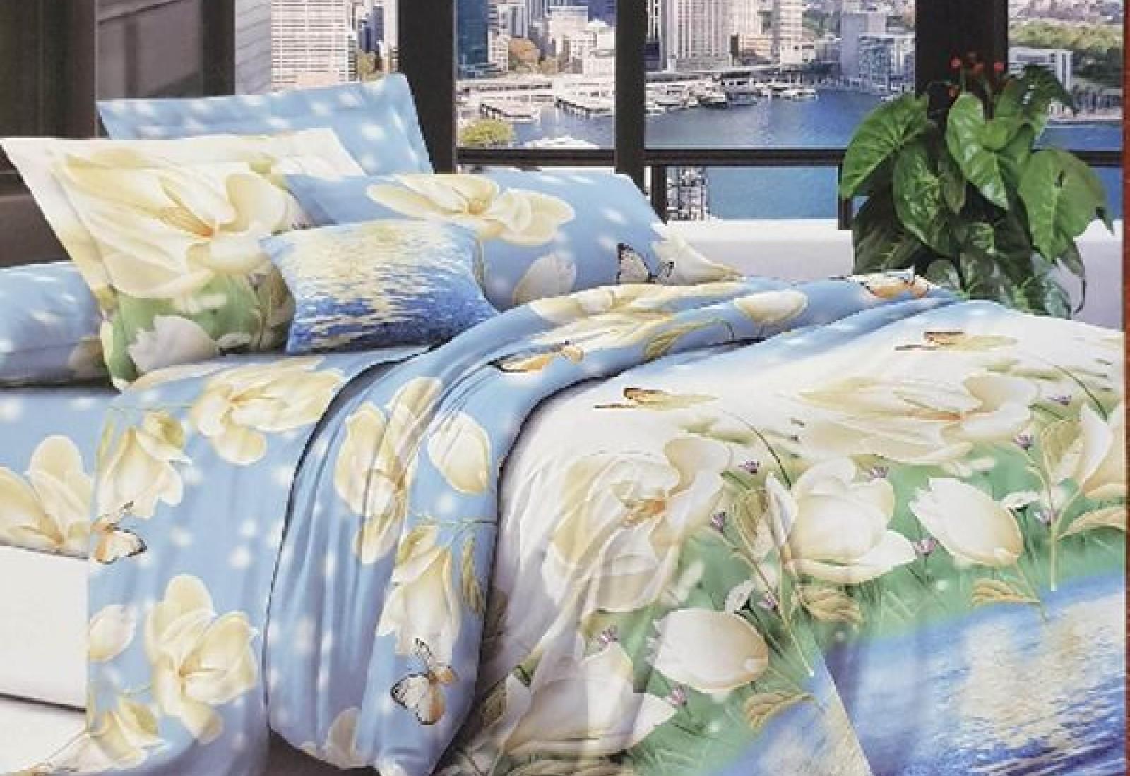 Семейное постельное белье полиСАТИН 3D (поликоттон) 85356