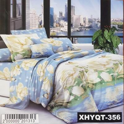 Евро постельное белье полиСАТИН 3D (поликоттон) 85356