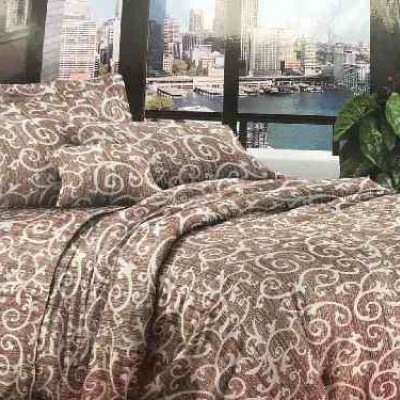 Евро постельное белье полиСАТИН 3D (поликоттон) 854547