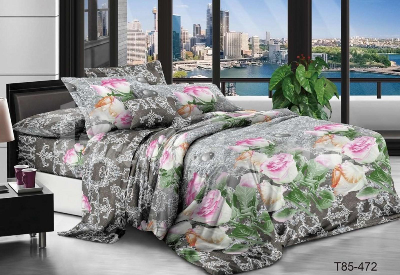 Семейное постельное белье полиСАТИН 3D (поликоттон) 85472