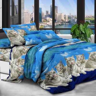 Евро постельное белье полиСАТИН 3D (поликоттон) 8597