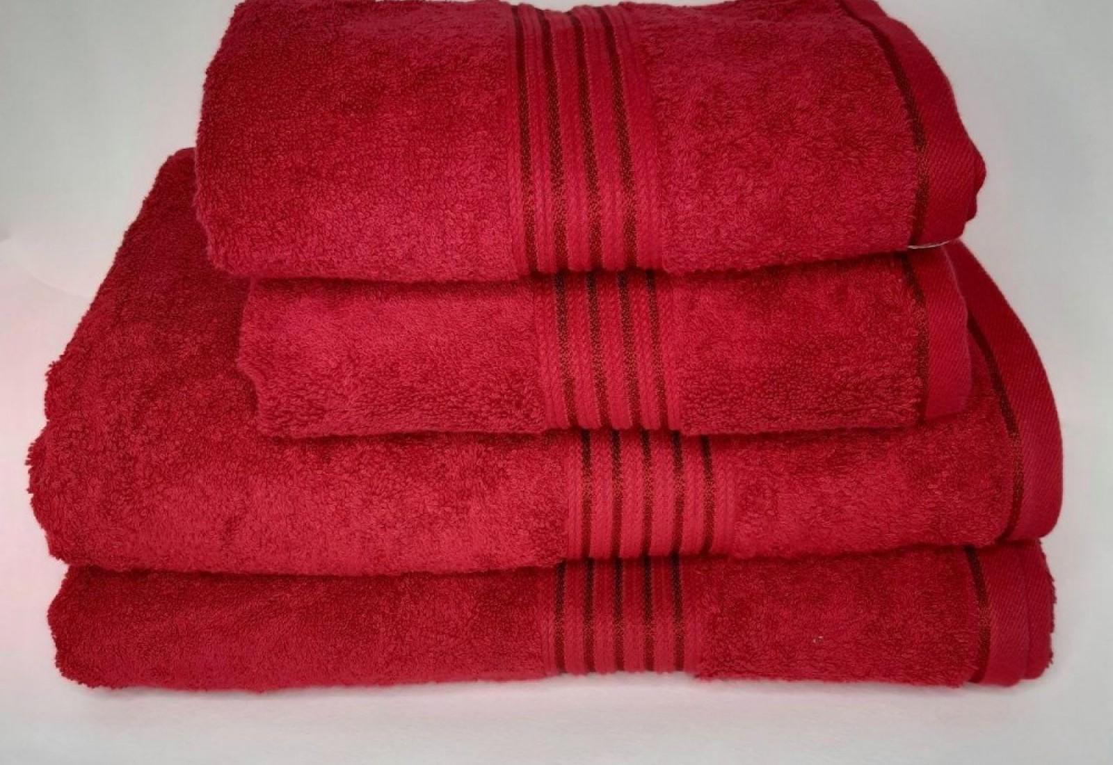 Банное полотенце 70*140--красный
