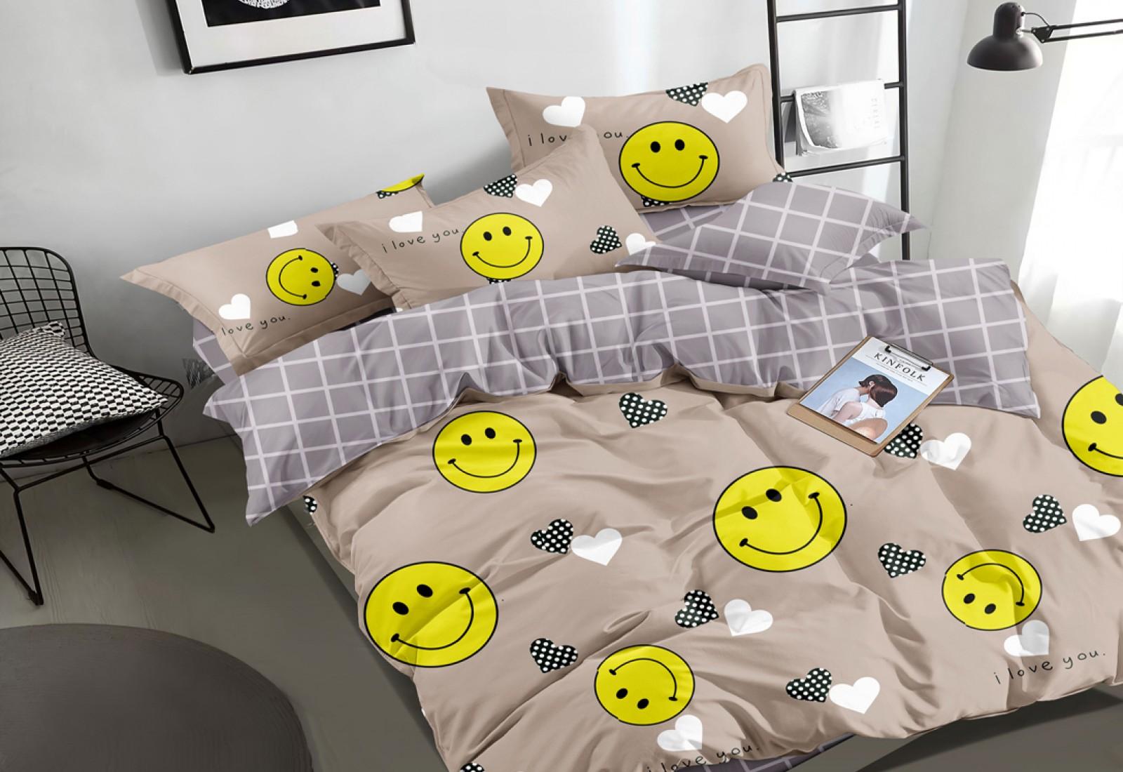 Двуспальное постельное белье САТИН 100% хлопок 105