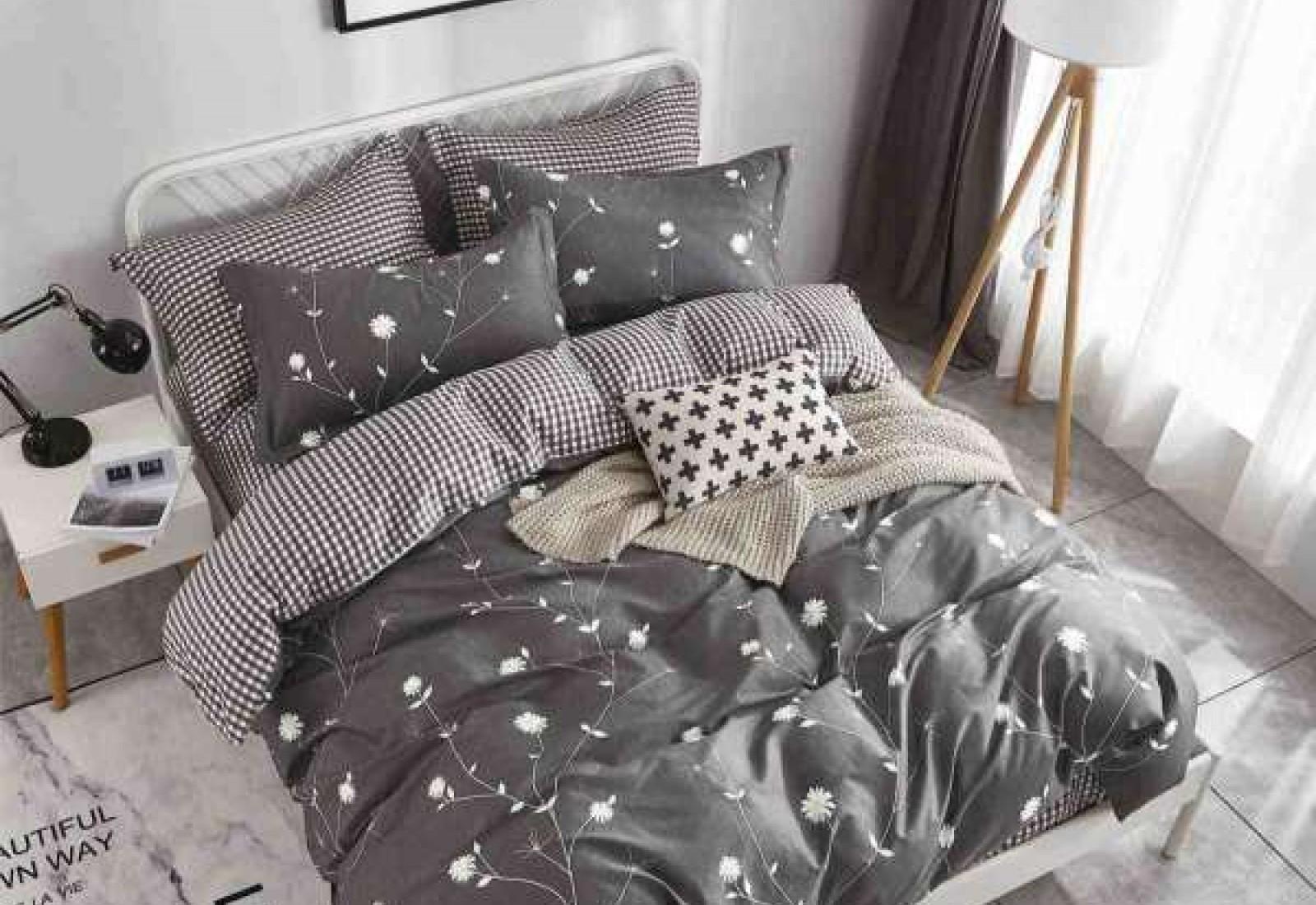 Полуторное постельное белье САТИН 100% хлопок