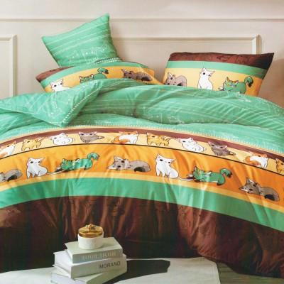 Полуторное постельное белье САТИН 100% хлопок 804